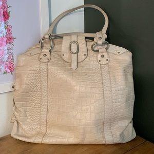 [LAMARTHE] Ivory Italian Leather Bowling Bag